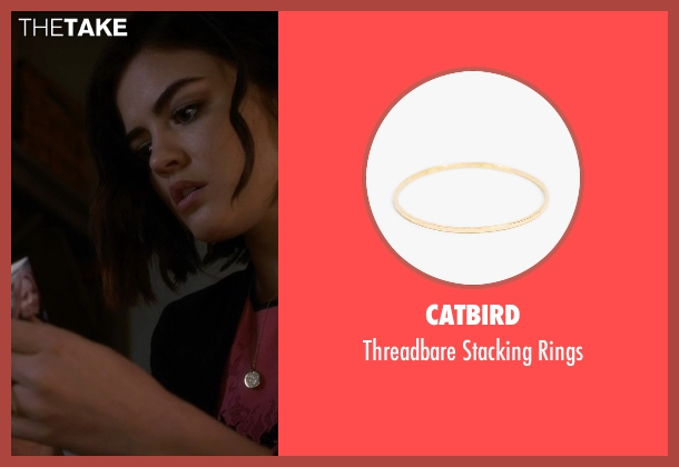 Catbird gold rings from Pretty Little Liars seen with Aria Montgomery (Lucy Hale)