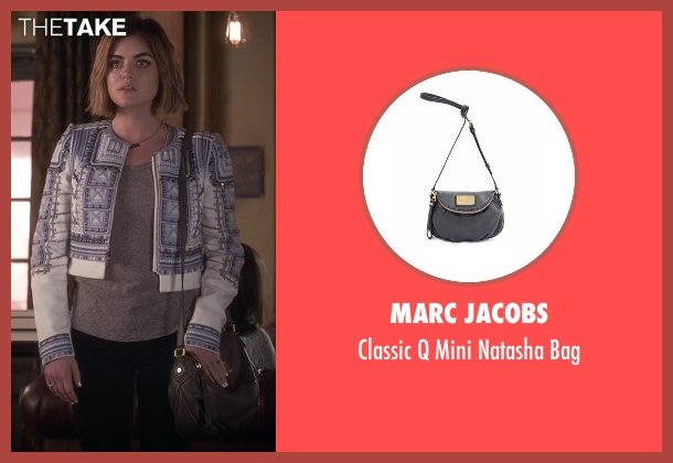 Marc Jacobs  gray bag from Pretty Little Liars seen with Aria Montgomery (Lucy Hale)