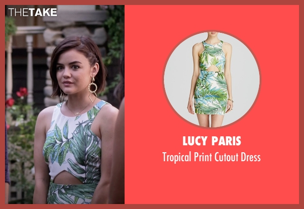 Lucy Paris green dress from Pretty Little Liars seen with Aria Montgomery (Lucy Hale)