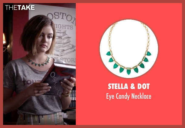 Stella & Dot green necklace from Pretty Little Liars seen with Aria Montgomery (Lucy Hale)