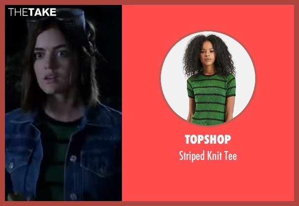 Topshop  green tee from Pretty Little Liars seen with Aria Montgomery (Lucy Hale)