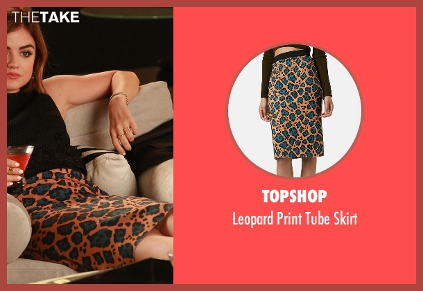 Topshop orange skirt from Pretty Little Liars seen with Aria Montgomery (Lucy Hale)