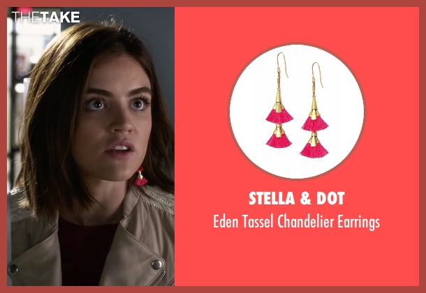 Stella & Dot pink earrings from Pretty Little Liars seen with Aria Montgomery (Lucy Hale)