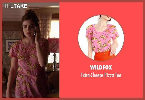 Wildfox pink tee from Pretty Little Liars seen with Aria Montgomery (Lucy Hale)