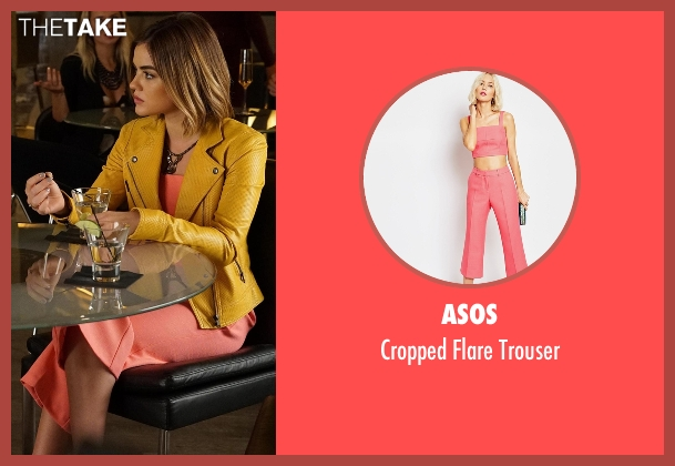 ASOS pink trouser from Pretty Little Liars seen with Aria Montgomery (Lucy Hale)