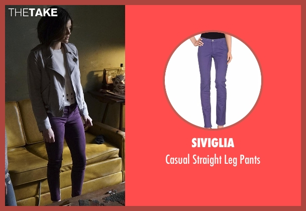 Siviglia purple pants from Pretty Little Liars seen with Aria Montgomery (Lucy Hale)