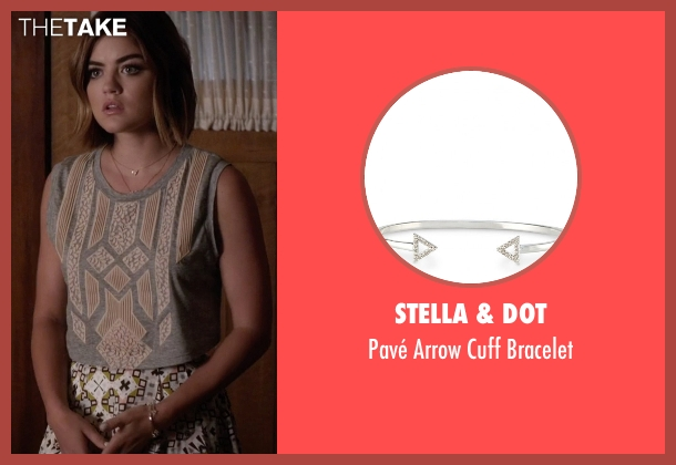 Stella & Dot silver bracelet from Pretty Little Liars seen with Aria Montgomery (Lucy Hale)