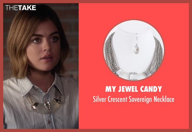 My Jewel Candy silver necklace from Pretty Little Liars seen with Aria Montgomery (Lucy Hale)