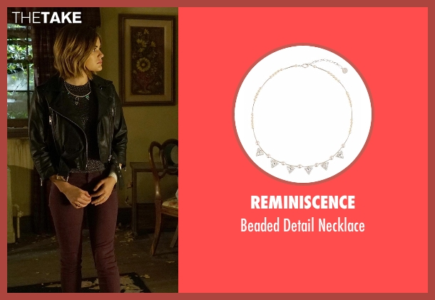 Reminiscence silver necklace from Pretty Little Liars seen with Aria Montgomery (Lucy Hale)