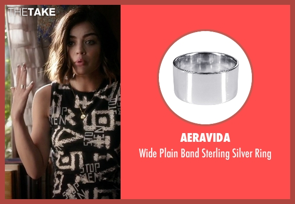 Aeravida silver ring from Pretty Little Liars seen with Aria Montgomery (Lucy Hale)