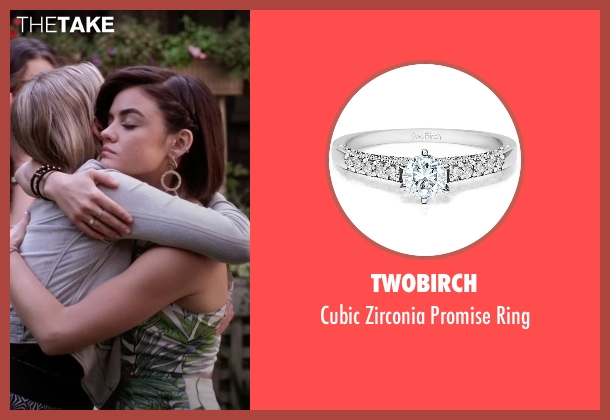TwoBirch silver ring from Pretty Little Liars seen with Aria Montgomery (Lucy Hale)