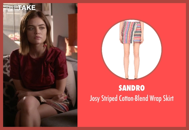 Sandro skirt from Pretty Little Liars seen with Aria Montgomery (Lucy Hale)