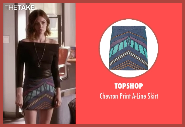 Topshop skirt from Pretty Little Liars seen with Aria Montgomery (Lucy Hale)