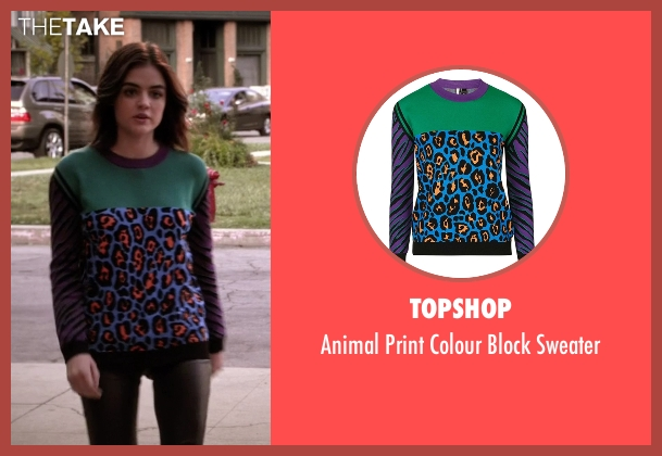 Topshop sweater from Pretty Little Liars seen with Aria Montgomery (Lucy Hale)