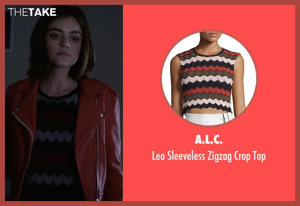 A.L.C. top from Pretty Little Liars seen with Aria Montgomery (Lucy Hale)