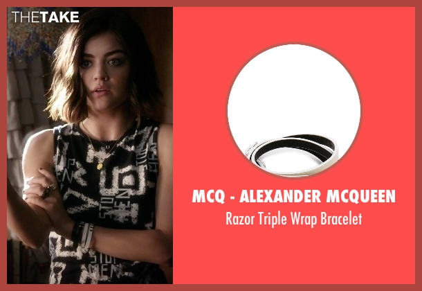 McQ - Alexander McQueen white bracelet from Pretty Little Liars seen with Aria Montgomery (Lucy Hale)