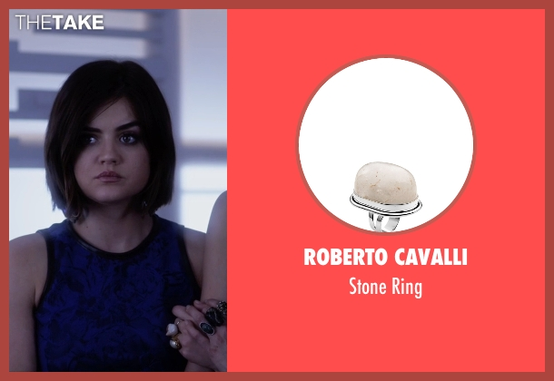 Roberto Cavalli white ring from Pretty Little Liars seen with Aria Montgomery (Lucy Hale)
