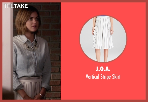 J.O.A. white skirt from Pretty Little Liars seen with Aria Montgomery (Lucy Hale)