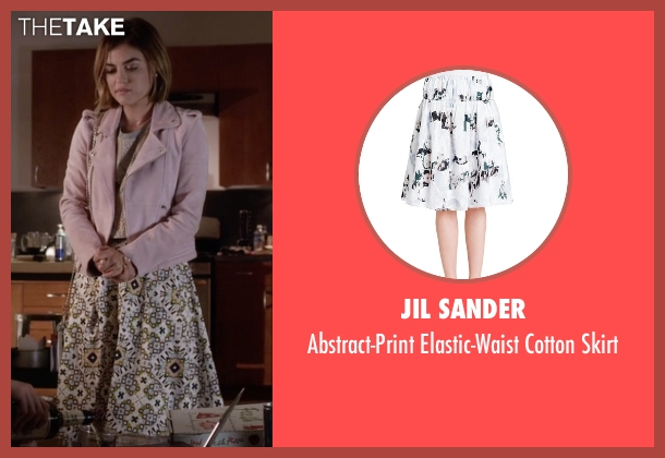 Jil Sander white skirt from Pretty Little Liars seen with Aria Montgomery (Lucy Hale)