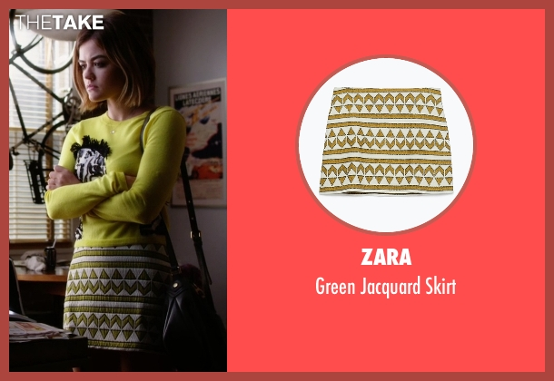 Zara white skirt from Pretty Little Liars seen with Aria Montgomery (Lucy Hale)