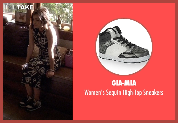 Gia-Mia white sneakers from Pretty Little Liars seen with Aria Montgomery (Lucy Hale)