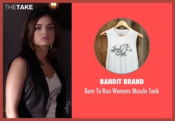 Bandit Brand white tank from Pretty Little Liars seen with Aria Montgomery (Lucy Hale)