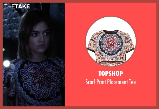 Topshop white tee from Pretty Little Liars seen with Aria Montgomery (Lucy Hale)