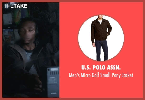 U.S. Polo Assn. brown jacket from Into the Storm seen with Arlen Escarpeta (Daryl)
