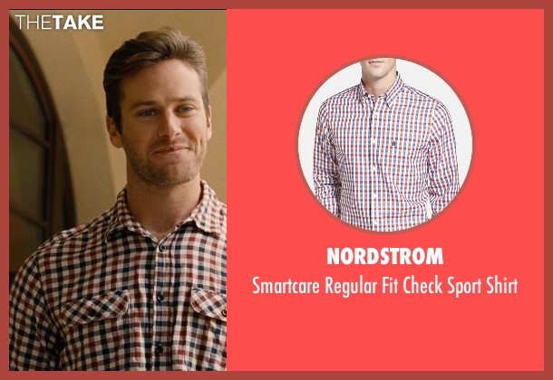 Nordstrom orange shirt from Entourage seen with Armie Hammer (Unknown Character)