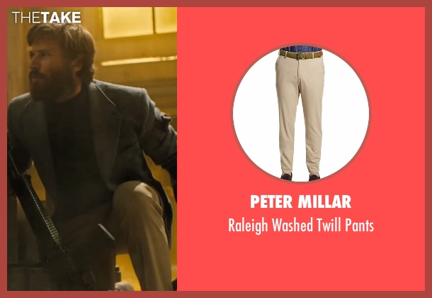 Peter Millar beige pants from Free Fire seen with Armie Hammer (Ord)