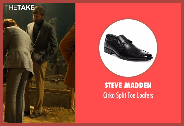 Steve Madden black loafers from Free Fire seen with Armie Hammer (Ord)