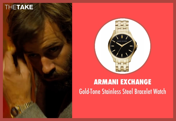 Armani Exchange gold watch from Free Fire seen with Armie Hammer (Ord)