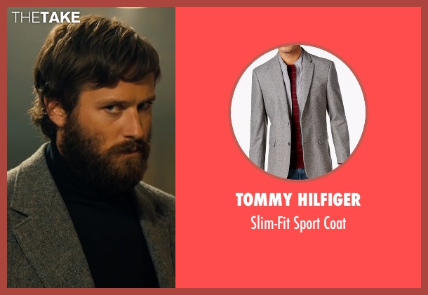 Tommy Hilfiger gray coat from Free Fire seen with Armie Hammer (Ord)