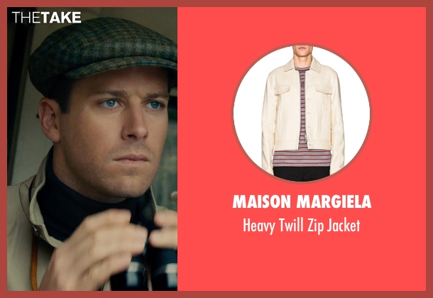 Maison Margiela beige jacket from The Man from U.N.C.L.E. seen with Armie Hammer (Illya Kuryakin)