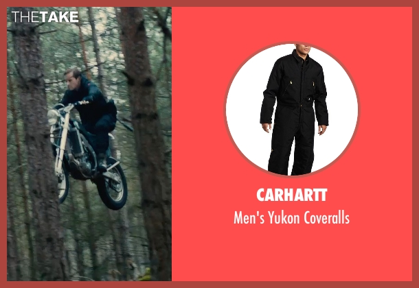 Carhartt black coveralls from The Man from U.N.C.L.E. seen with Armie Hammer (Illya Kuryakin)