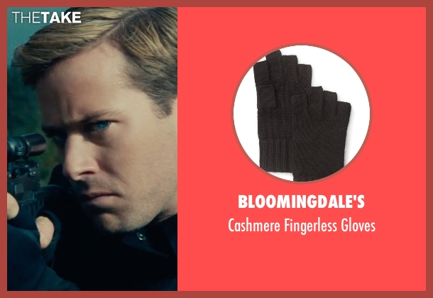 Bloomingdale's black gloves from The Man from U.N.C.L.E. seen with Armie Hammer (Illya Kuryakin)