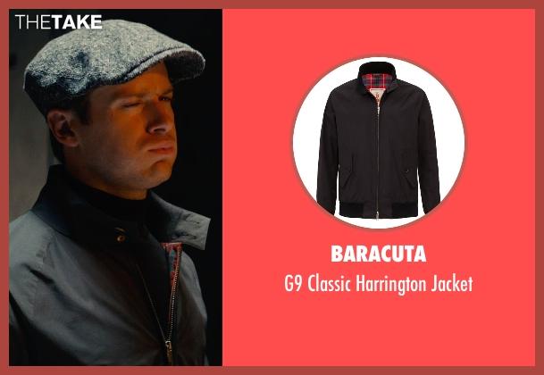 Baracuta black jacket from The Man from U.N.C.L.E. seen with Armie Hammer (Illya Kuryakin)