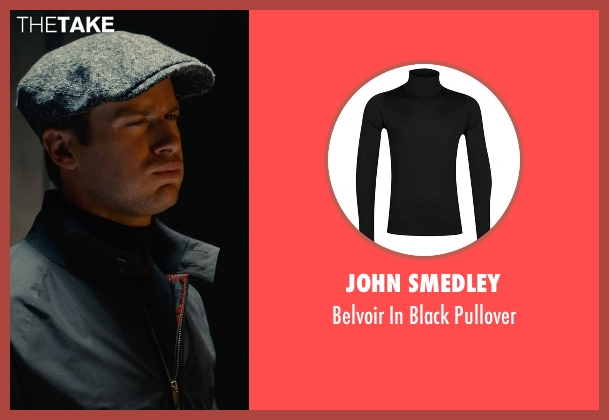 John Smedley black pullover from The Man from U.N.C.L.E. seen with Armie Hammer (Illya Kuryakin)