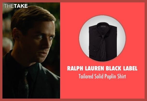 Ralph Lauren Black Label black shirt from The Man from U.N.C.L.E. seen with Armie Hammer (Illya Kuryakin)