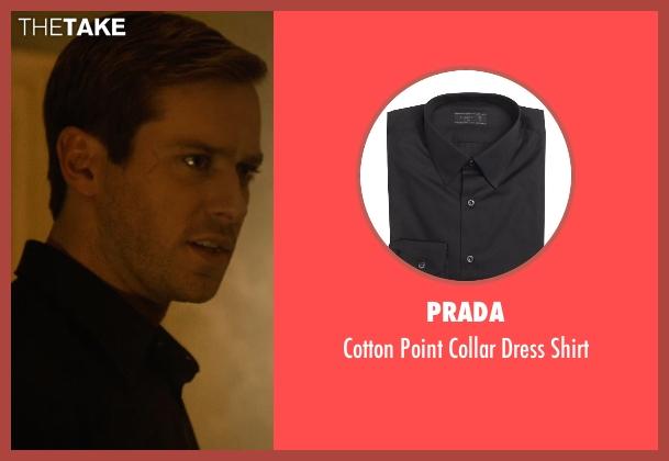 Prada black shirt from The Man from U.N.C.L.E. seen with Armie Hammer (Illya Kuryakin)
