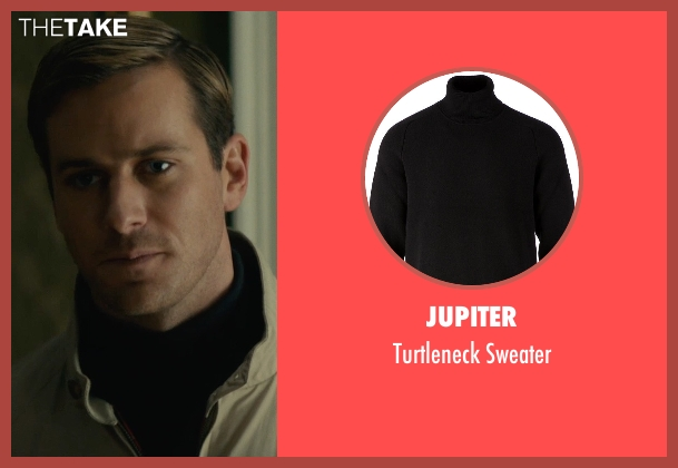 Jupiter black sweater from The Man from U.N.C.L.E. seen with Armie Hammer (Illya Kuryakin)