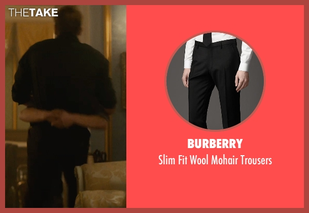 Burberry black trousers from The Man from U.N.C.L.E. seen with Armie Hammer (Illya Kuryakin)