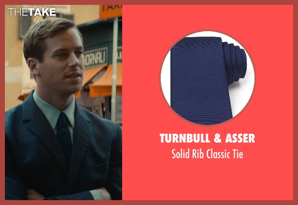 Turnbull & Asser blue tie from The Man from U.N.C.L.E. seen with Armie Hammer (Illya Kuryakin)