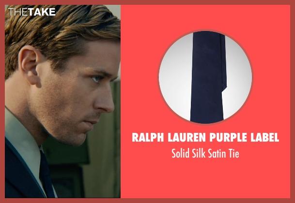 Ralph Lauren Purple Label blue tie from The Man from U.N.C.L.E. seen with Armie Hammer (Illya Kuryakin)
