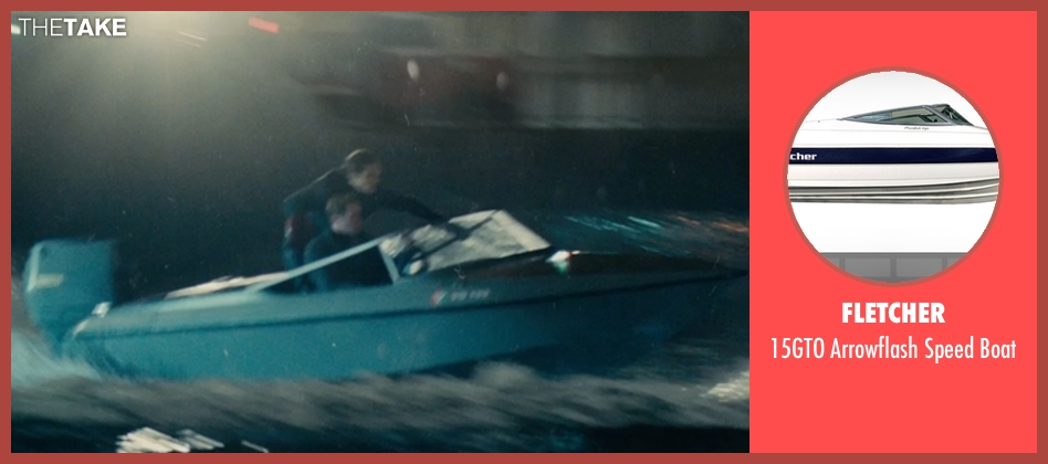 Fletcher boat from The Man from U.N.C.L.E. seen with Armie Hammer (Illya Kuryakin)