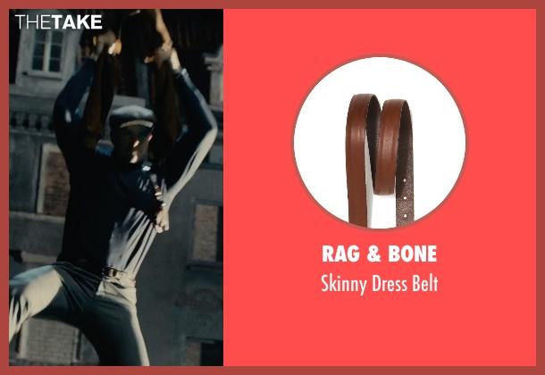 Rag & Bone brown belt from The Man from U.N.C.L.E. seen with Armie Hammer (Illya Kuryakin)