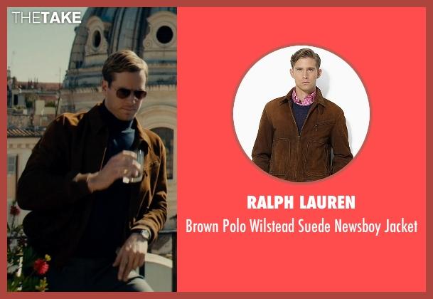 Ralph Lauren brown jacket from The Man from U.N.C.L.E. seen with Armie Hammer (Illya Kuryakin)