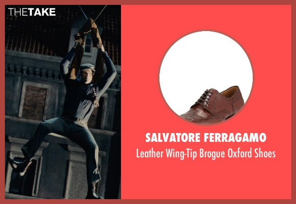 Salvatore Ferragamo brown shoes from The Man from U.N.C.L.E. seen with Armie Hammer (Illya Kuryakin)