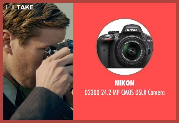 Nikon camera from The Man from U.N.C.L.E. seen with Armie Hammer (Illya Kuryakin)