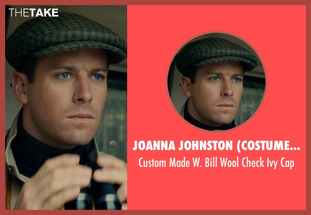 Joanna Johnston (Costume Designer) gray cap from The Man from U.N.C.L.E. seen with Armie Hammer (Illya Kuryakin)